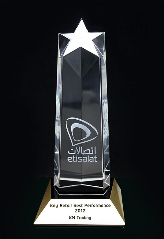 Etisalat Key Retail Best Performance for the year 2012.