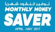 Monthly Money Saver April - May  2017