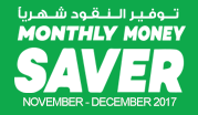 Monthly Money Saver - November - December 2017