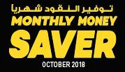 Monthly Money Saver - October 2018