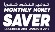 Monthly Money Saver December 2018 - January 2019