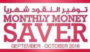 Monthly Money Saver September- October 2016